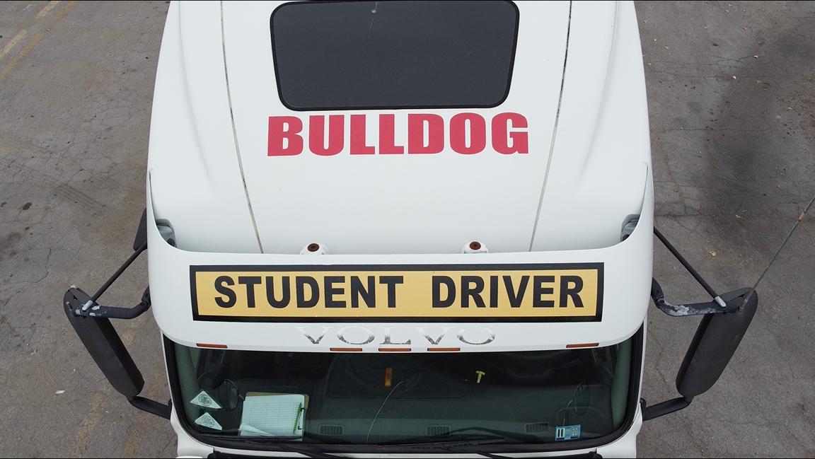 Bulldog driving school truck